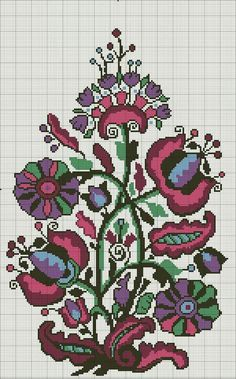 This Pin was discovered by Neş Cross Stitch Tree, Cross Stitch Borders, Modern Cross Stitch, Cross Stitch Flowers, Cross Stitch Kits, Cross Stitch Designs, Cross Stitching, Cross Stitch Patterns, Folk Embroidery