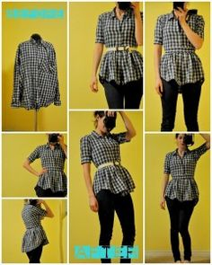 How to Make a Peplum Blouse from a Shirt - AllDayChic