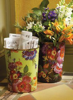 MacKenzie-Childs Flower Market Buckets - For newspaper recycyling, flower arranging and beyond!