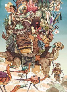 Premiado pela Spectrum e The Society of Illustrators, Sam Bosma tem um estilo incrível e um talento brilhante para contar histórias através da ilustração.