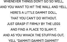 poem Dammit Dolls!