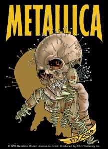 METALLICA - Classic rock music concert psychedelic poster ~ ☮~ღ~*~*✿⊱  レ o √ 乇 !! ~