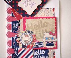 Birthday wish using Hello Kitty Scrapbook items.