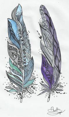 #Feathers #PenArt #inkArt