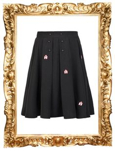 Book of Deer House Embroidered Skirt - $65