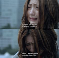― My Rainy Days Naoko: It makes you wonder why I was ever born. K Quotes, Film Quotes, Real Quotes, Words Quotes, Korean Drama Funny, Korean Drama Quotes, You And Me Quotes, Kdrama, Love Failure Quotes