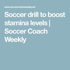 Use these soccer (football) drills for a quick way to improve the stamina levels of your team and get players fit for matches. Soccer Coaching, Soccer Training, Passing Drills, Football Drills, Soccer Drills, Football Workouts, Soccer Workouts