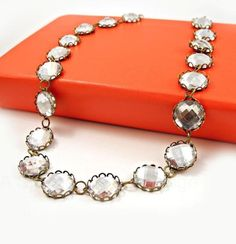 DIY JCrew Inspired Crystal Necklace DIY Jewelry DIY Necklace