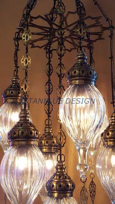 Stunning Ottoman Style Turkish Blown Glass by IstanblueDesign