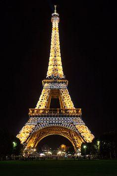 Eiffel Tower ablaze in gold xo LF