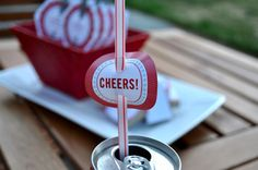 SugarBlossom Weddings, England: DIY: Sparklers, Straw and Matchbox Wedding Projects Fourth Of July Food, 4th Of July Party, July 4th, Carnival Decorations, Pop Cans, Event Company, Partying Hard, Happy 4 Of July, Party Entertainment
