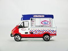 TINY Toy East No 06 Ice Cream Van - Hong Kong Food Truck Vehicle Diecast White & Red Color