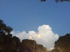 #fluffyclouds #star #streetlights
