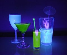 TRON inspired glow in the dark drinks halloween recipes, halloween food, halloween party, halloween ideas