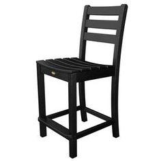 Trex Outdoor Furniture Monterey Bay Charcoal Black Plastic Patio Dinin
