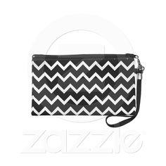 Ziggy  http://www.zazzle.com/black_and_white_zig_zag_pattern_wristlet_purse-223310368321411854?rf=238818103834686250