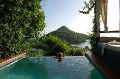 Tyler and Ashley's honeymoon at #HermitageBay Resort, absolute paradise in Antigua