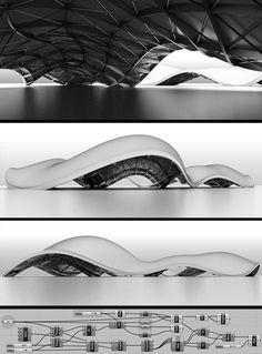 UV Structure, Surface design architecture information modeling model Architecture Design, Parametric Architecture, Parametric Design, Organic Architecture, Concept Architecture, Futuristic Architecture, Amazing Architecture, Architecture Portfolio, Architecture Diagrams