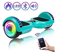"""Amazon.com: SISIGAD Hoverboard 6.5"""" Self Balancing Scooter with Colorful LED Wheels Lights Two-Wheels self Balancing Hoverboard Dual Motors Hover Board UL2272 Certified: Sports & Outdoors Funny Pool Floats, Oxford White, Balance Board, Electric Scooter, To My Daughter, Gifts For Kids, Cool Style, Bluetooth, Led"""