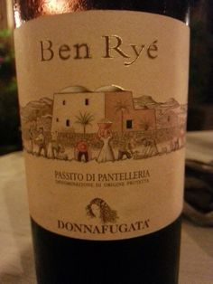 BEN RYE PASSITO DI PANTELLERIA DOP (2012) - DONNAF... Best Italian Wines, Wine Making, Sweet Desserts, Rye, Champagne, Italy, Bottle, How To Make, Paraty
