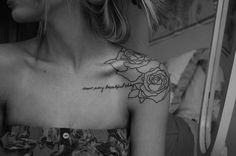 beautiful black an white tatoost for women | black and white, girl, tattoos - inspiring picture on Favim.com
