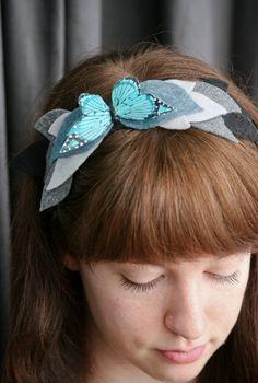 Butterfly Winter Felt Headband