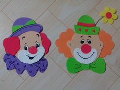 Clown Crafts, Circus Crafts, Carnival Crafts, Carnival Themed Party, Carnival Themes, Circus Theme, Circus Party, Foam Crafts, Diy And Crafts