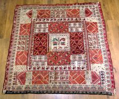 Bulgarian embroidery made into a blanket.