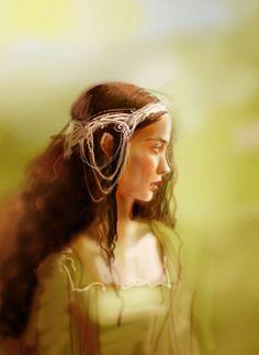 "Arwen sketch by non-existent-country on DeviantArt (An impressive ""non Liv"" Arwen depiction)"