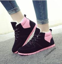 Outdoor Fashion Womens Low Top Shoes Wedge Heel Lace Up Winter Casual Sneakers