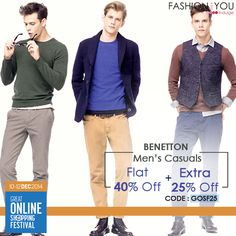 #Benetton presents uber cool and trendy Fashion styles at deep discounts. Shop Now>>http://bit.ly/1yVlaz8  #GOSFFashionAndYou, #EXTRA25, #GOSF25