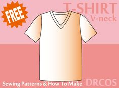 Tshirt2(V-neck) sewing patterns & how to make