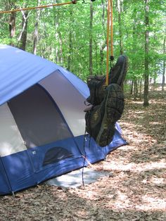 Camp - don't forget the clothesline, trash bags, and newspapers.