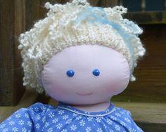 Newborn Size Handmade Cloth Doll Daphne 22 by WhimsicalWoodlands, $65.00