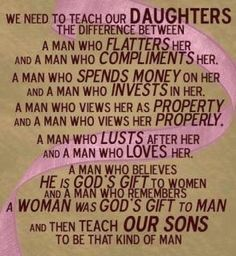 Teach daughters ...