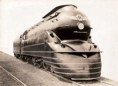 1937 Art-Deco locomotive -- Pennsylvania Rail Road.