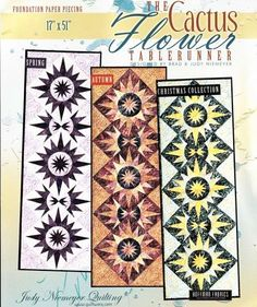 Cactus+Flower+Table+Runner+Pattern+by+Judy+Niemeyer+Quilting++at+Creative+Quilt+Kits