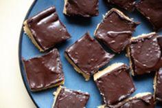 Buckeye Bars: Vegan Buckeye Chocolate Peanut Butter Bars.