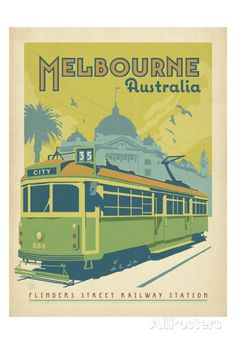 Melbourne, Australia Posters by Anderson Design Group - AllPosters.co.uk