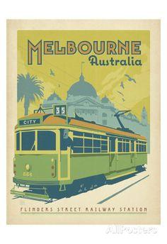 Melbourne, Australien Kunstdrucke von Anderson Design Group bei AllPosters.de
