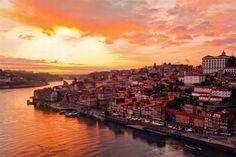 Atardecer enOporto, Portugal