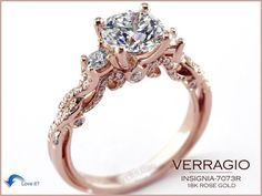 Verragio Rose Gold Diamond Engagement Ring < this is my all time favorite most beautiful ring I have ever seen ! Can this be mine some day?