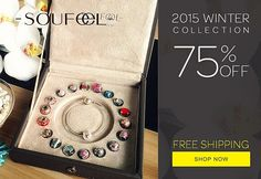 2015 Winter Collection 75% Off. Soufeel charms bracelets, for every memorable day!