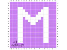 Free graph/chart crochet pattern for the letter M. This crochet graph is one letter square from my Alphabet crochet baby child blanket graphgan. Intarsia Patterns, Crochet Blanket Patterns, Baby Blanket Crochet, Crochet Baby, Graph Crochet, C2c Crochet, Free Crochet, Crochet Alphabet Letters, Cross Stitch Letters
