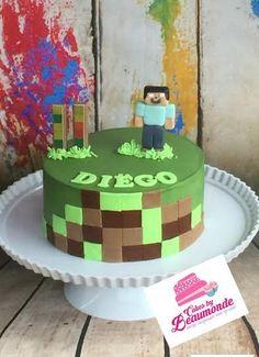 Eenvoudige minecraft taart.