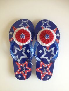 """Girls Red White and Blue """"Justice"""" Flip Flops Girls Flip Flops, Blue Flip Flops, Justice Stuff, Shop Justice, Star Buttons, Justice Clothing, Eastern Star, Birthday List, Flipping"""