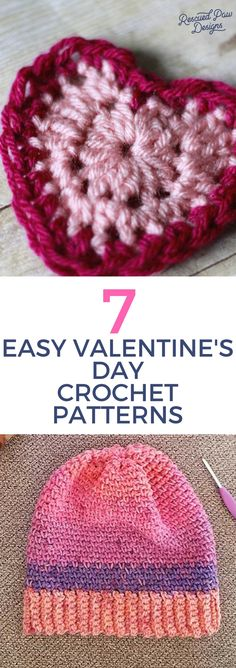 Make tseven easy Valentine's Day Crochet patterns with these FREE crochet patterns for hearts, scarves, hats and more! Make an easy gift for Valentine's Day Crochet Lace Edging, Crochet Headband Pattern, Easy Crochet Patterns, Crochet Designs, Crochet Hats, Crochet Ideas, Crochet Appliques, Knitting Patterns, Crochet Squares