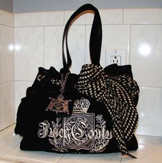 AUTHENTIC Juicy Couture Scottie Daydreamer Tote in Dark Brown / Black - Starting @ just 99 cents!  #juicycouture #daydreamer #tote