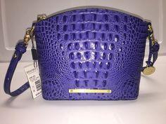 Brahmin Mini Duxbury Crossbody Turkish Blue Melbourne Leather  | eBay