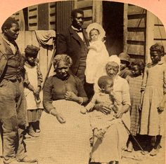"""Generations of a rural African American family, """"from one year to 130 years old""""."""